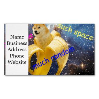banana   - doge - shibe - space - wow doge Magnetic business card