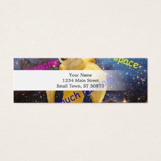 banana   - doge - shibe - space - wow doge mini business card