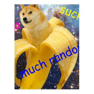 banana   - doge - shibe - space - wow doge postcard