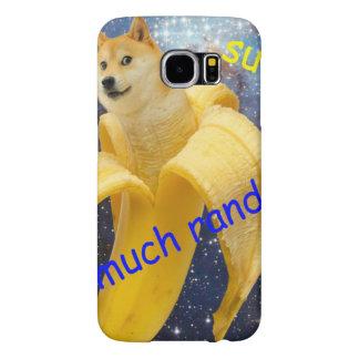 banana   - doge - shibe - space - wow doge samsung galaxy s6 cases