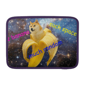 banana   - doge - shibe - space - wow doge sleeve for MacBook air