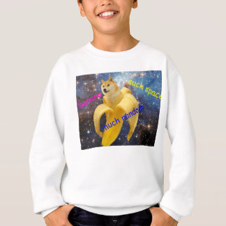 banana   - doge - shibe - space - wow doge sweatshirt