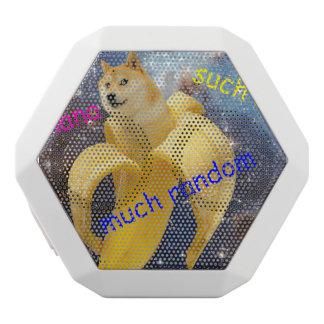 banana   - doge - shibe - space - wow doge white bluetooth speaker