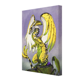 Banana Dragon 8x10 Canvas Print