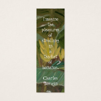 Banana Grove Bookmark Mini Business Card