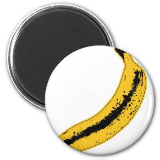 Banana illustration in Pop Art Style 6 Cm Round Magnet