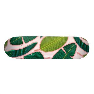 Banana Leaf Blush 21.6 Cm Skateboard Deck