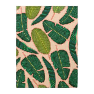 Banana Leaf Blush Wood Wall Decor