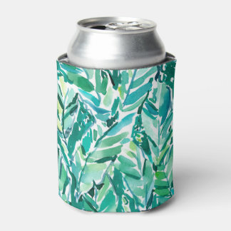 BANANA LEAF JUNGLE Green Tropical Can Cooler