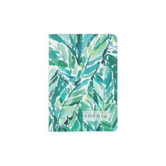 BANANA LEAF JUNGLE Green Tropical Passport Holder
