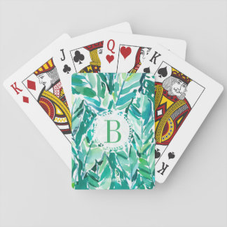 BANANA LEAF JUNGLE Green Tropical Playing Cards