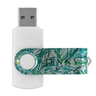 BANANA LEAF JUNGLE Green Tropical USB Flash Drive