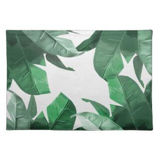 Banana Leaf Print Placemats