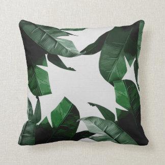 Banana Leaf Print Throw Pillow