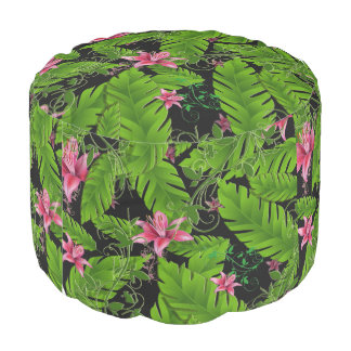 Banana Leaf Tropical Home Decor Pouf Chair Seat