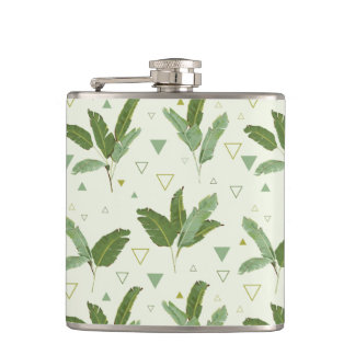 Banana Leaf With Triangles Flasks