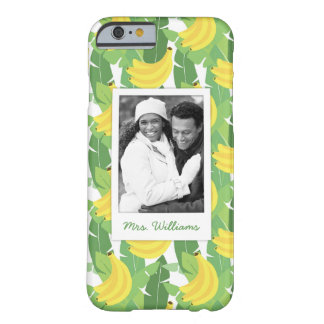 Banana Leaves | Add Your Photo & Name Barely There iPhone 6 Case