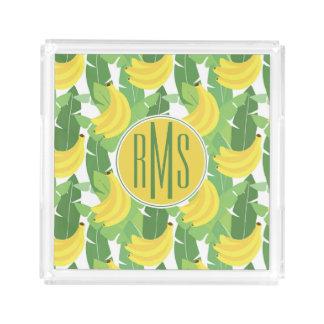 Banana Leaves And Fruit Pattern | Monogram
