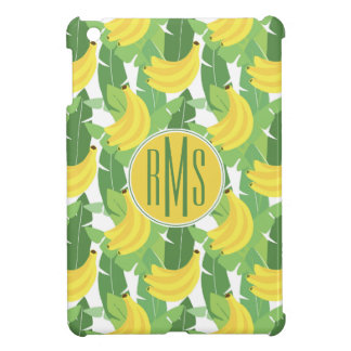 Banana Leaves And Fruit Pattern | Monogram iPad Mini Cases