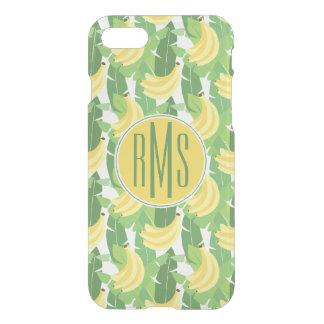 Banana Leaves And Fruit Pattern | Monogram iPhone 7 Case