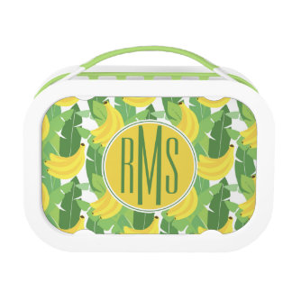 Banana Leaves And Fruit Pattern | Monogram Lunch Box