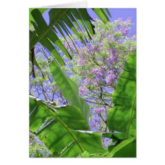 Banana Leaves and Jacaranda Card
