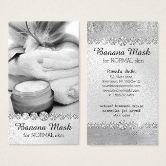 Banana Mask Skincare Cream Homemade Recipe Massage Business Card