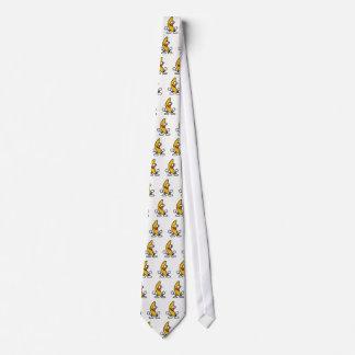 banana motif tie