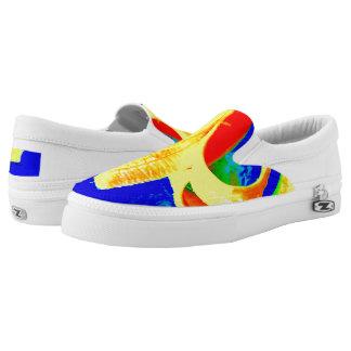 Banana on Blue Unisex slip on sneaker Printed Shoes