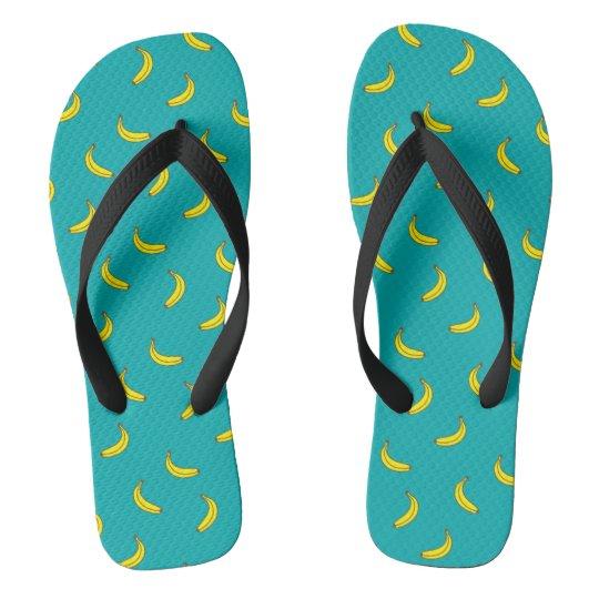 Banana Pattern Flip Flops Thongs