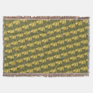 banana pattern throw blanket