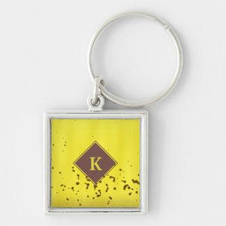 Banana Peel Silver-Colored Square Key Ring