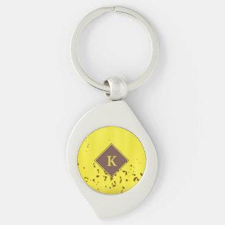 Banana Peel Silver-Colored Swirl Key Ring