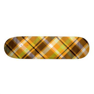 Banana Plaid Custom Skate Board
