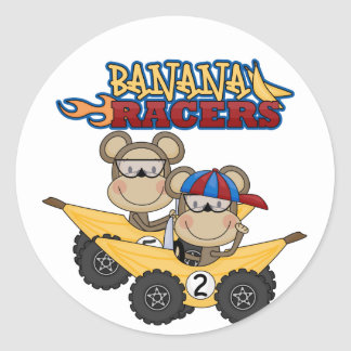 Banana Racers Tshirts and Gifts Classic Round Sticker