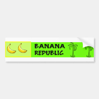 Banana Republic Bumper Sticker