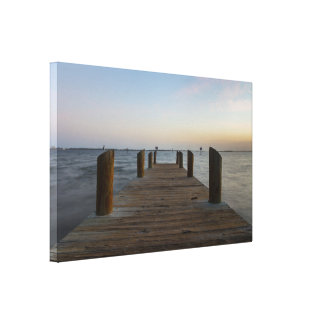 Banana River Dock Canvas Print