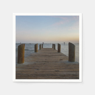 Banana River Dock Paper Napkin