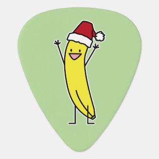 Banana Santa hat cheering Christmas holiday Guitar Pick