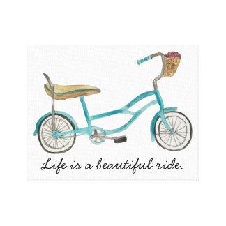 Banana Seat Bike Canvas Stretched Canvas Print