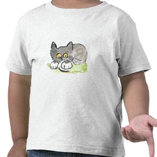 Banana Slug and Tiny Gray Kitten T Shirts