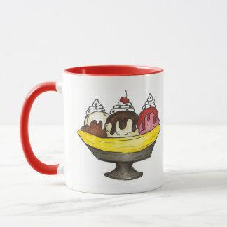 Banana Split Ice Cream Shoppe Sundae Sunday Funday Mug