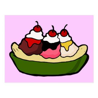 Banana Split Sweet Ice Cream Treat Postcard