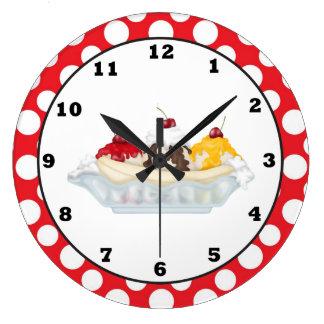 Banana Split sweet treat wall clock