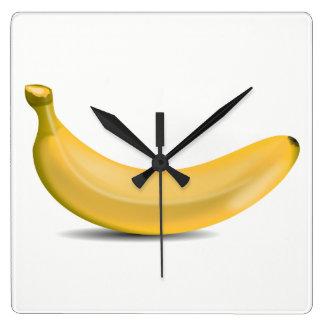 Banana Square Wall Clock