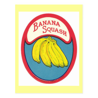 Banana Squash Vintage Label Postcard