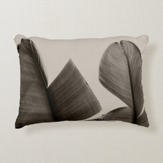 Banana Tree Leaves in Sepia Decorative Cushion