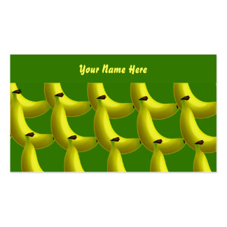 Banana Wallpaper, Your Name Here Pack Of Standard Business Cards