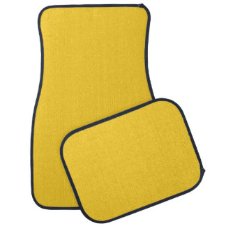 BANANA YELLOW (a solid fruity color) ~~ Car Mat