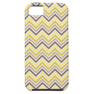 Banana Yellow Chevron Pattern Tough iPhone 5 Case